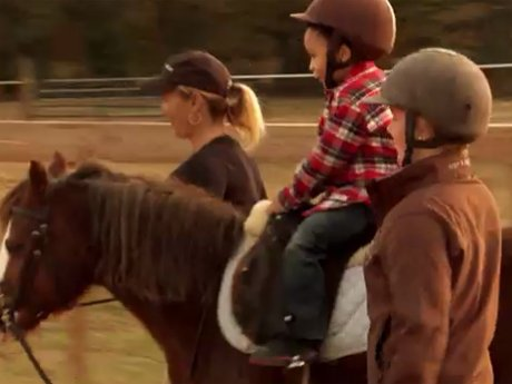 Major rides a pony!