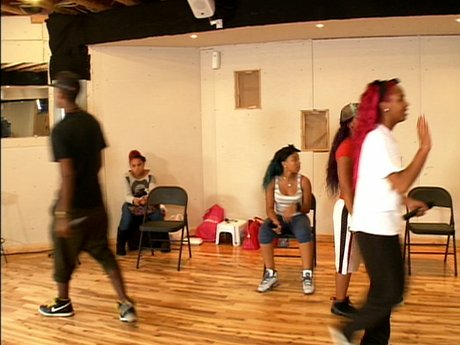 OMG! The OMG Girls rehearse before they go on tour.
