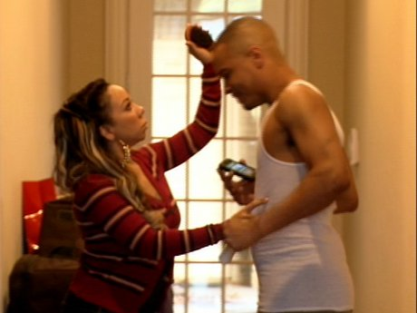 Tiny tries to fix T.I.'s hair, but T.I. is acting up like King.