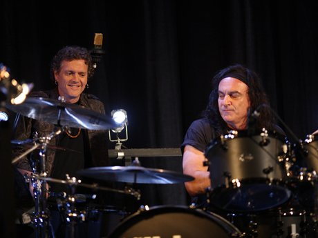 Rick Allen jams with Vinny Appice on the drums.