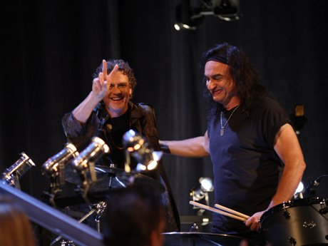 Vinny Appice gets a little help from his friend Rick Allen on drums.