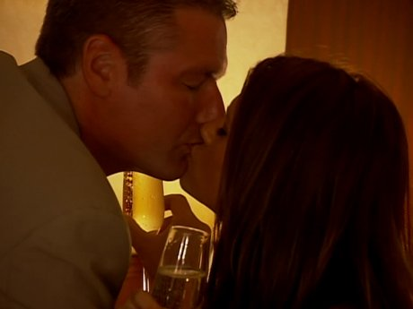 Christine and Frank lock lips...but Christine needs to be communicative about her needs in a relationship.