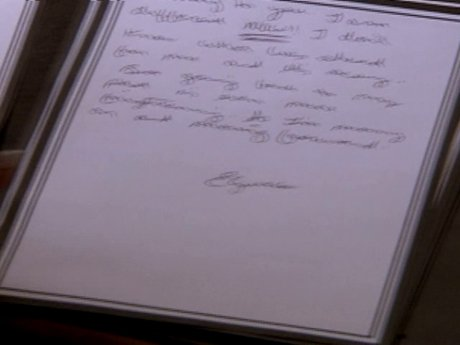 Elizabeth writes her break up letter to Paul.