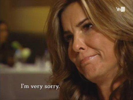 Lynn apologizes for her drunken rant that leaked.