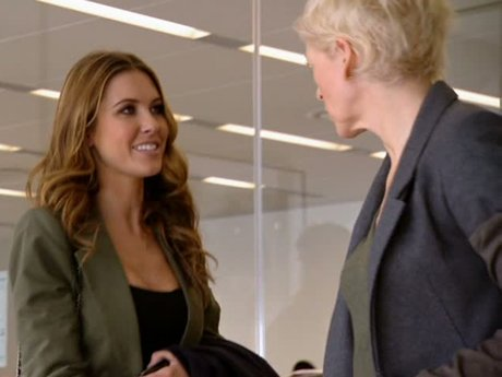 Audrina interviews with the head honchos at Marie Claire