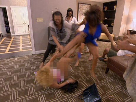 Ouch! Chrissy actually stomps on Kimbella.