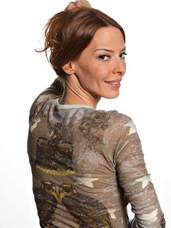 Drita keeps it natural for the cameras.