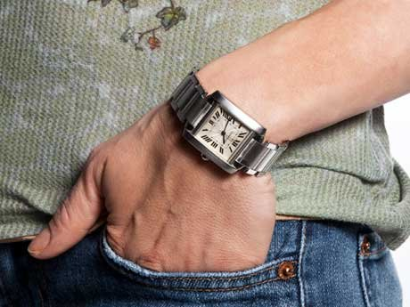 Check out that gorgeous watch!