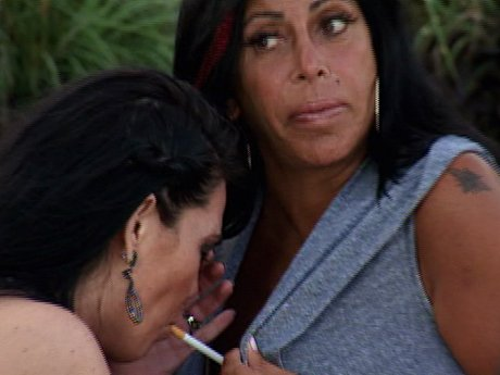 Big Ang's chest is so useful!