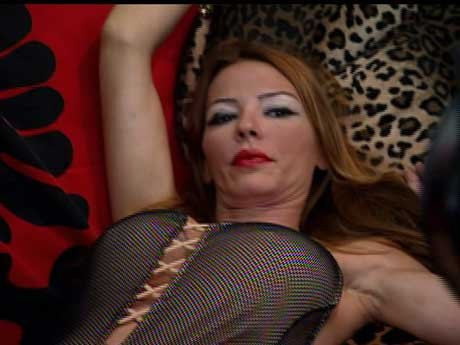 Drita works it for the cameras!