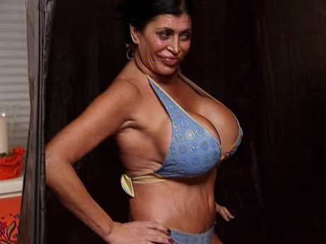 Big Ang is looking fab in her swimsuit.