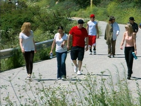 The group goes on a hike with Bob.