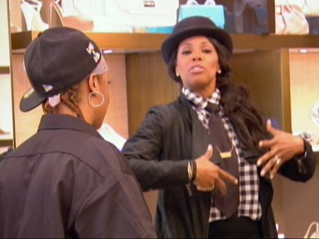 June shows Da Brat how she can carry herself - even with some extra weight!