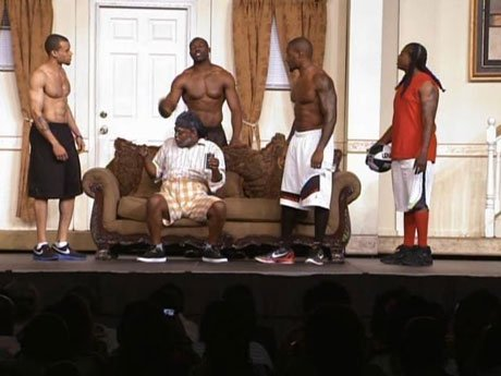 And scene. T.O. and his co-stars dominate the stage.