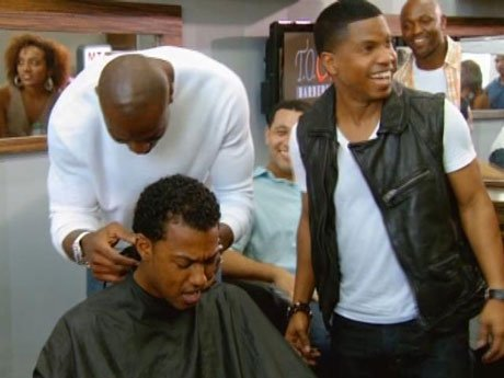 T.O. gives a haircut to one of his Dysfunctional Friends costars!