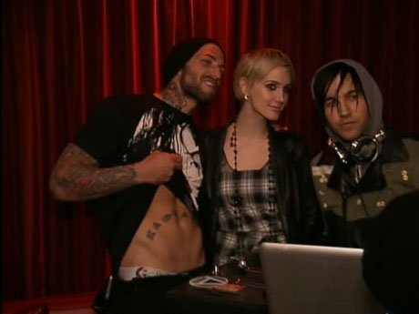 Cory, Ashlee Simpson, and Pete Wentz