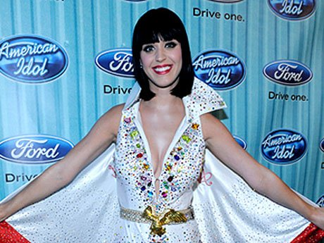 2009: The pop princess pays tribute to King Elvis (or Evel Knievel). This glam jumpsuit shows that Katy can still look awesome even when it looks like she's about to get shot out of a cannon.