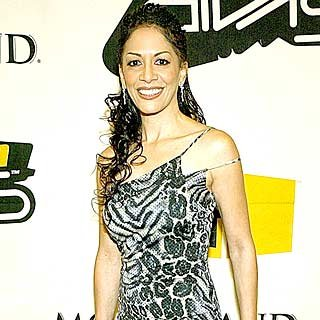 Performer Sheila E. poses backstage. credit: Frank Micelotta/Getty Images