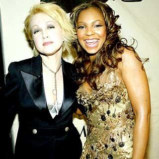 Brooklyn's Cydni Lauper and Glen Cove's Ashanti are Divas in Vegas. credit: Frank Micelotta/Getty Images