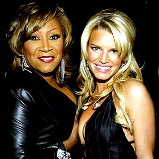 Patti LaBelle and Jessica Simpson meet backstage. credit: Frank Micelotta/Getty Images