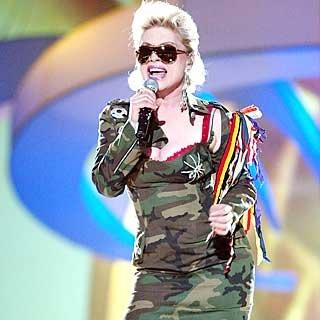 Debbie Harry of Blondie performs. credit: Frank Micelotta/Getty Images