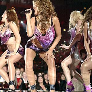 Carmen Electra and The Pussycat Dolls wow the audience. credit: Frank Micelotta/Getty Images