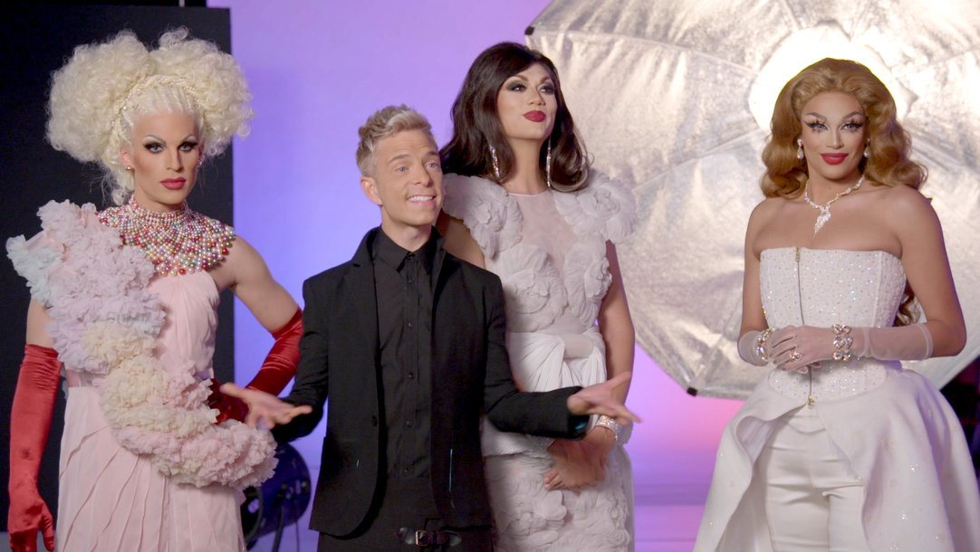 The Models Shoot With Drag Race Royalty Americas Next Top Model