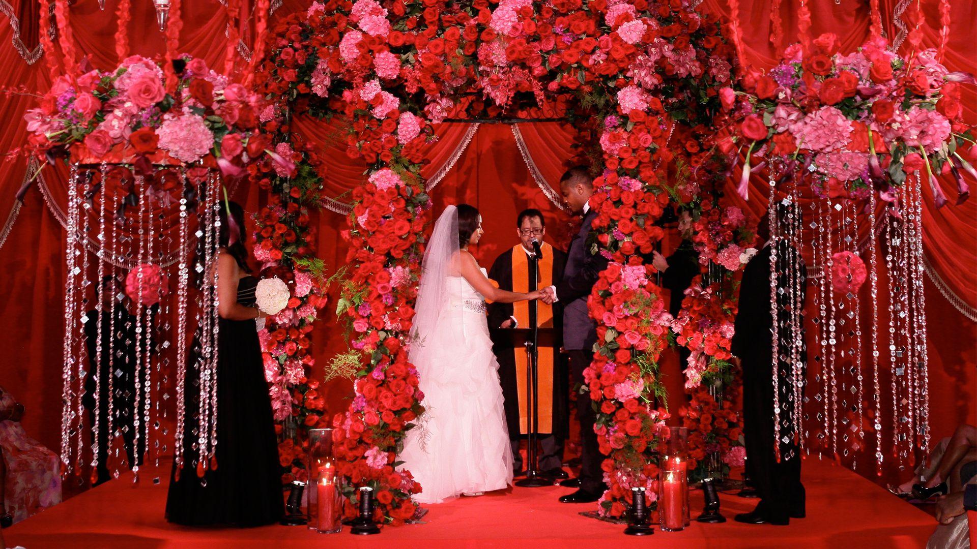 la la u0026 39 s full court wedding